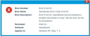 Quickbooks Error 6144 82