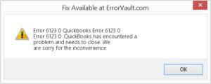 Quickbooks error code 6123 0